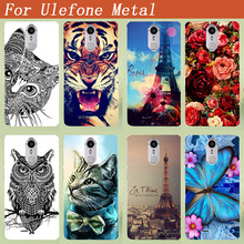 "For Ulefone Metal Case Painting Colored tiger lion owl Rose Eiffel towers Soft Tpu case For Ulefone Metal 5.0"" Phone Sheer bags"