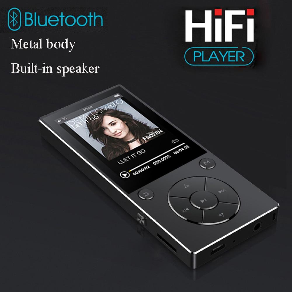 Métal Bluetooth 4.0 16 GB haut-parleur intégré avec écran couleur 2.4 pouces lecteur Mp3 prise en charge jusqu'à 128 GB carte SD lecteur mp3 bluetooth