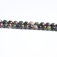 LanLi  natural jewelry 6/8mm Carved on the color tourmaline loose Beads DIY men and women Bracelet Necklace  anklet Accessories