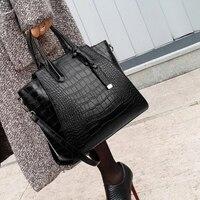 Модные кожаные сумки для женщин, известная большая сумка-мессенджер, сумка через плечо, крокодиловая сумка с верхней ручкой, женская сумка, ...