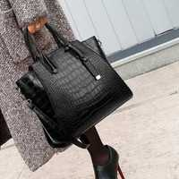 Sacs à main en cuir de mode femmes célèbre grand sac à bandoulière messenger sacs à poignée supérieure crocodile sac femme un sac à main femme de marque