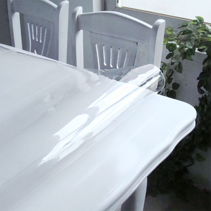 SM 1 5mm 60cm 60cm Customization made Transparent plastic PVC tablecloths soft glass pvc table covers