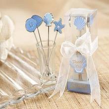 Приморский хор d'oeuvre выбирает вилки для фруктов пляжная тематика свадебные сувениры и подарок LX4612