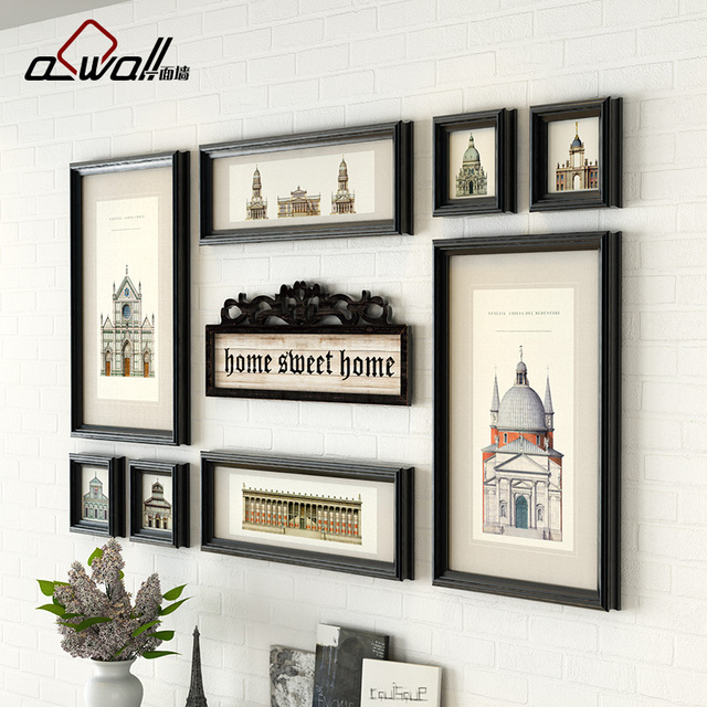 8 Pieces/Set Pictures Frame Resin Photo Frame Personalized Wall ...