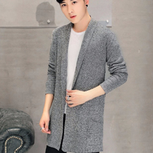 2016 Black Long Sweaters Men Winter Brand Clothing V-neck Cardigan Male Sweaters Pockets Men's Knitted Sweaters Plus Size 3XL 50