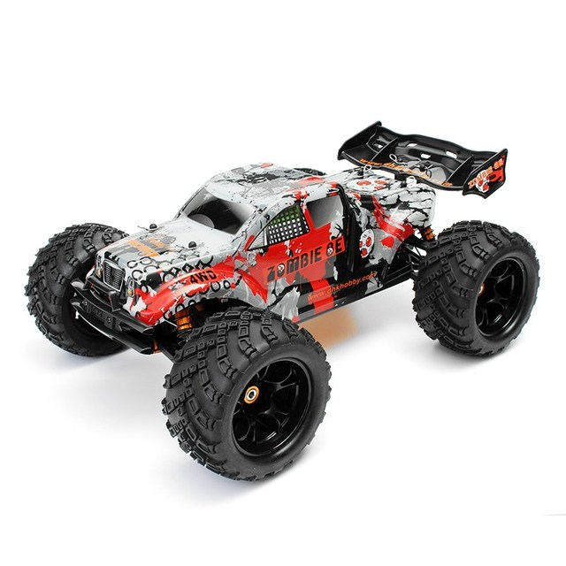 dhk passe temps zombie 8e 8384 18 100a 4wd brushless monster truck rtr - Zombie Voiture
