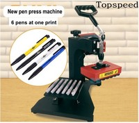 New Pen Press Machine Pen Heat Transfer Printing 6 Pens at one print DIY Machine