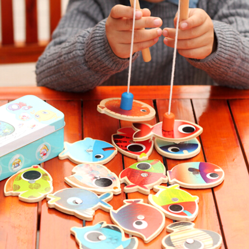 14-Fishes-2-Fishing-Rods-Wooden-Children-Toys-Fish-Magnetic-Pesca-Play-Fishing-Game-Tin-Box-Kids-Educational-Toy-Boy-girl-2