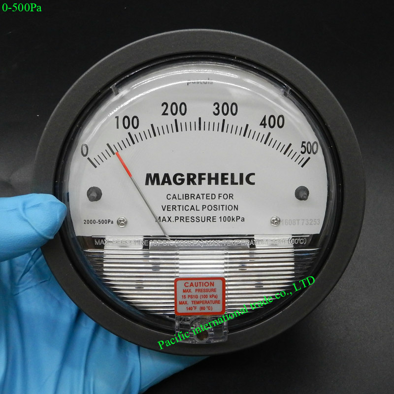 0-500pa Digital Analog high pressure differential pressure gauge Manometer gas with high precision and high quality pressure r134a single refrigeration pressure gauge code 1503 including high and low