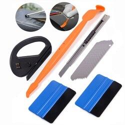 FOSHIO para envolver el coche Kit de exprimidor magnético pegatina para coche herramienta de estilismo papel de vinilo cortador de película cuchillo imán herramienta de tinte de ventana conjunto