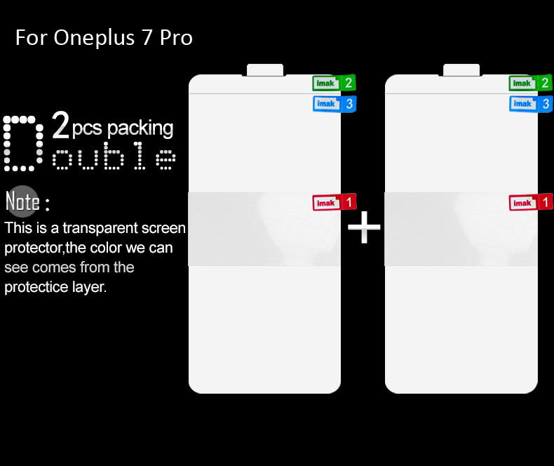 Image 3 - imak Hydrogel Film 3 III For Oneplus 7 Pro 6T 6 Rear Front Back Screen Protective Transparent oleophobic-in Phone Screen Protectors from Cellphones & Telecommunications on