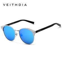 VEITHDIA Aluminum Magnesium Unisex Sunglasses Luxury Brand Polarized Sunglass Retro Sun Glasses For Men Women Oculos 6109