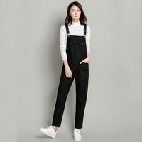 Plus Size 5XL Jeans Women 2018 New Spring Autumn Denim Jumpsuits&Rompers Female Slim Suspender Trousers Women Loose Overalls