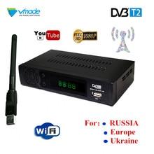 NEUE HD DVB T2 Tuner digitale set top box DVB T2 Terrestrischen TV Empfänger für/Ukraine/Europa/RU Unterstützung USB WIFI RJ45 rezeptor