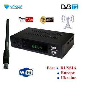 Image 1 - 新しいhd dvb T2チューナーデジタルセットトップボックスのdvb T2地上波テレビ受信機/ウクライナ/ヨーロッパ/ruサポートusb wifi RJ45受容体