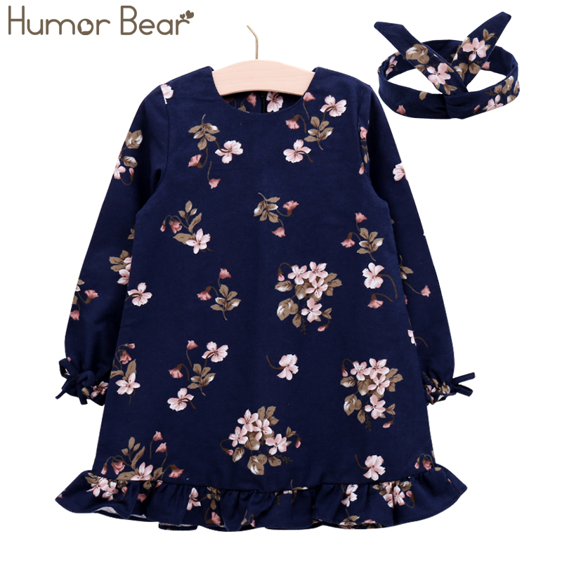 Humor Bear/Обувь для девочек платье фирменное платье принцессы осень Eruopean и американский Стиль волос Платье для малышей для детская одежда