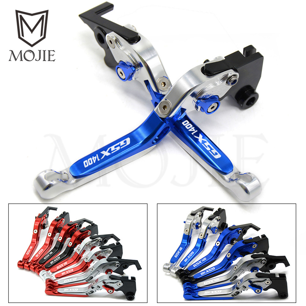 <font><b>GSX1400</b></font> Lever Motorcycle Accessories Adjustable Folding Extendable Brake Clutch Levers Set For <font><b>SUZUKI</b></font> <font><b>GSX1400</b></font> GSX 1400 2001-2007 image