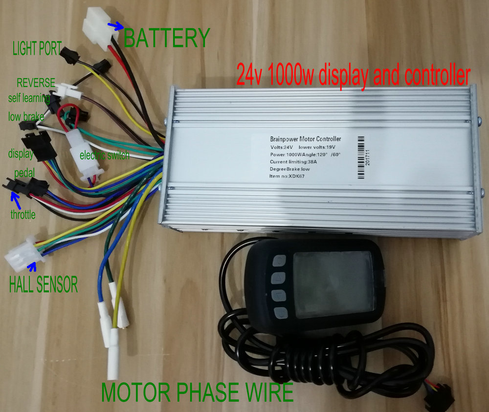 цены 24v36v48v60v 800w1000w controller and display set for electric bike scooter tricycle pedal scooter pedicab mtb conversion parts