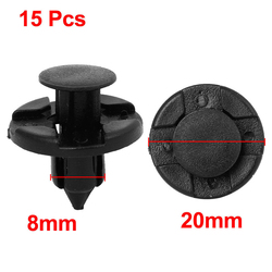 Car clip plastic rivet fastener mud flaps bumper fender push clips 8mm nylon screw bolts 15pcs.jpg 250x250