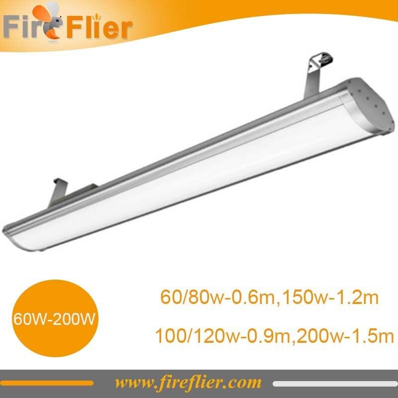 Livraison gratuite 10 pièces 60 w 80 w 100 w 120 w 150 w 200 w ip65 plat linéaire basse baie lumière 2ft 3ft 4ft 5ft led linéaire bar intérieur et extérieur