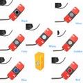 Wholesale 4pcs 16.5mm Flat Sensors Assistance Rrobe Parking Sensors black blue gray red white silver gold + drill