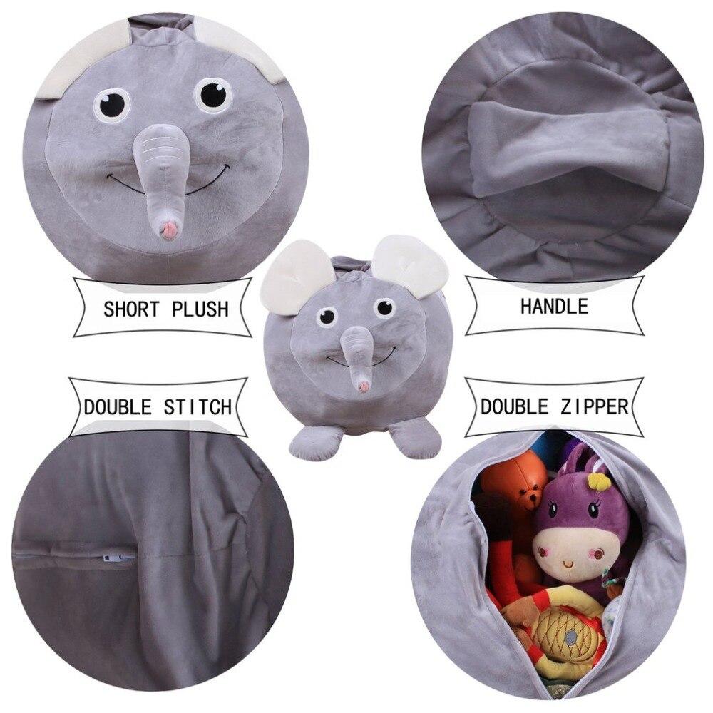 Cute Animal 60CM Soft Plush Kids Toys Storage Bag T shirt Clothing Organizer Bag Portable Storage Bag Foldable Clothes Organizer