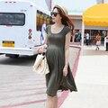 Moda verão Maternidade Vestidos Roupas Para Grávidas Roupas Femininas Gravidez Magro Desgaste Vestido Gravida Gestantes Roupas 2016
