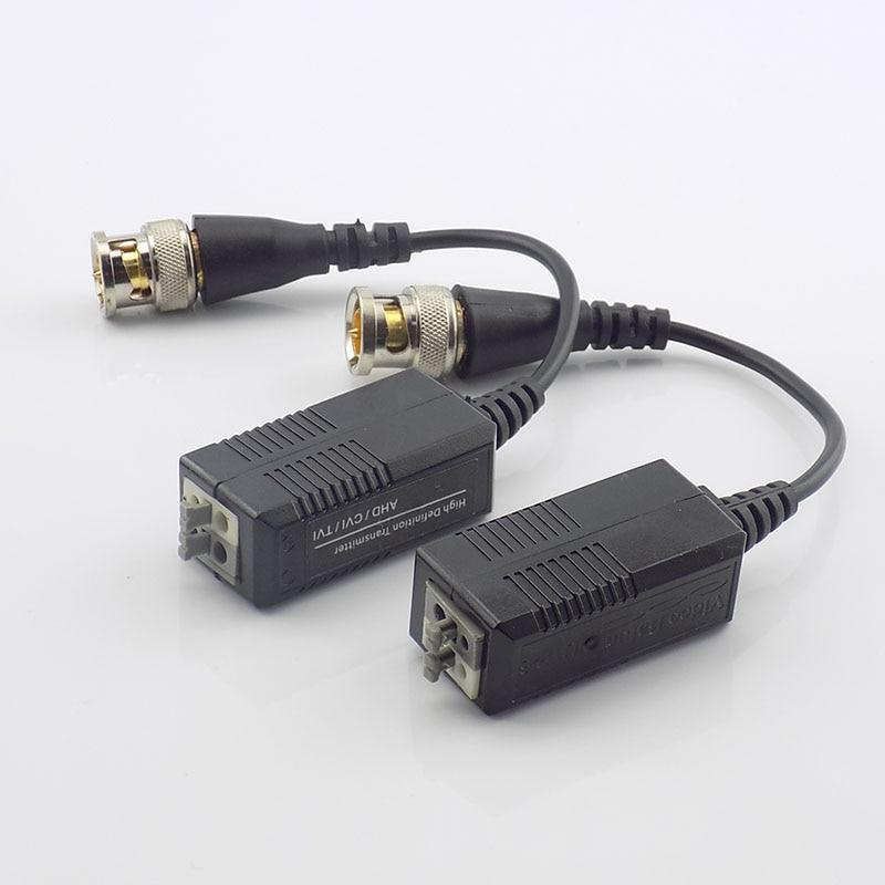 Gakaki 5pairs Twisted Pairs Adapter For HD CVI/TVI/AHD Cameras Passive Video Balun Male BNC To UTP Cat5/5e/6 Camera Accessories