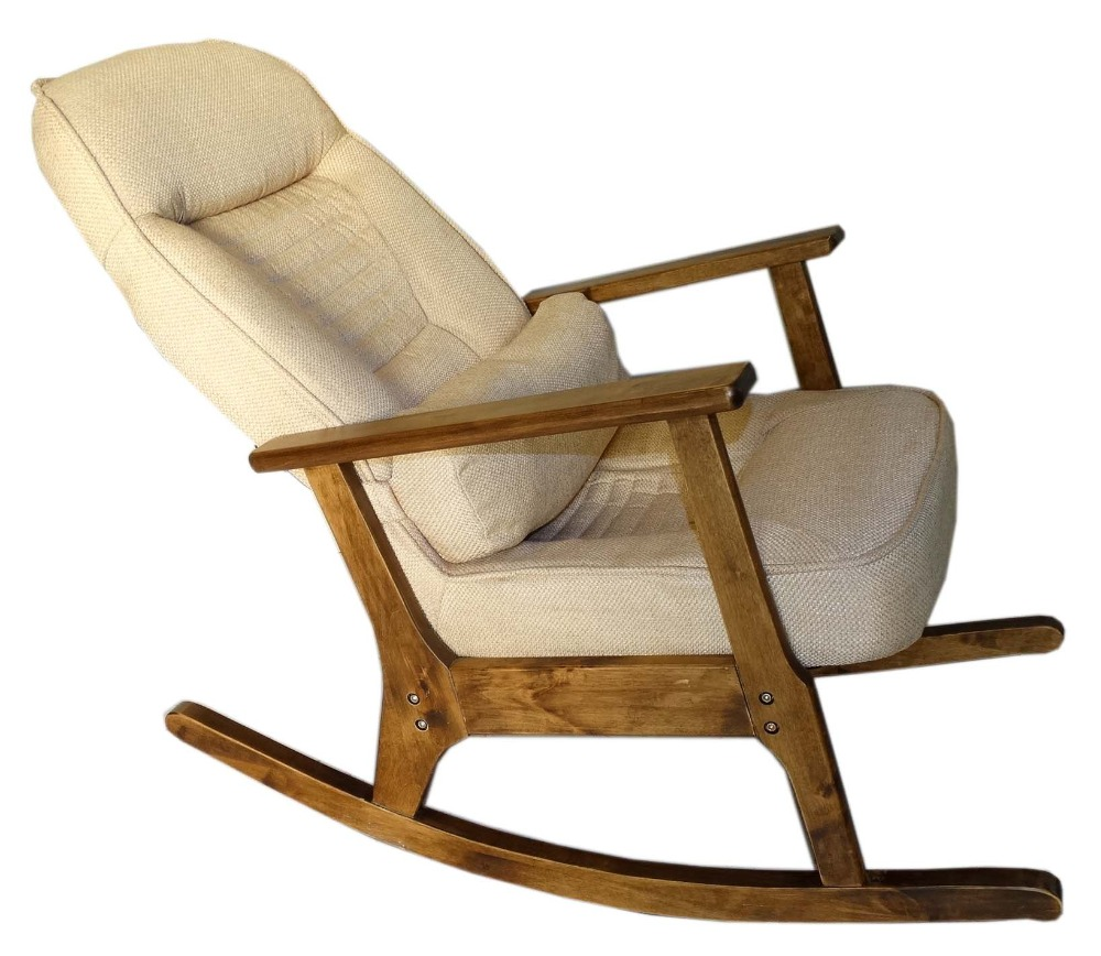 Easy chair recliner - Wooden Rocking Chair For Elderly People Japanese Style Chair Rocking Recliner Easy Chair Adult Armrest Rocking Chair Cushions In Garden Chairs From