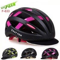 BATFOX Cycling Helmet Men Women Ultralight MTB Mountain Bike Helmet CE Safety Road Protone Lights Bicycle