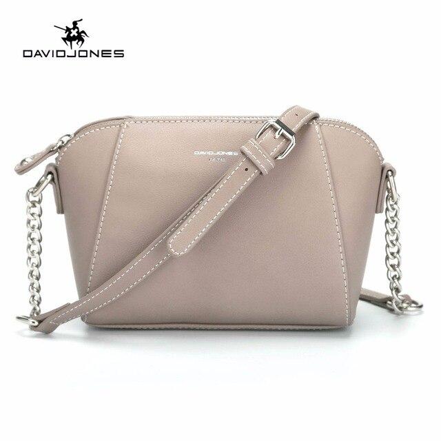 DAVID JONES kadın postacı çantası pu deri kadın crossbody çanta küçük bayan zincir omuzdan askili çanta kız marka çanta damla nakliye