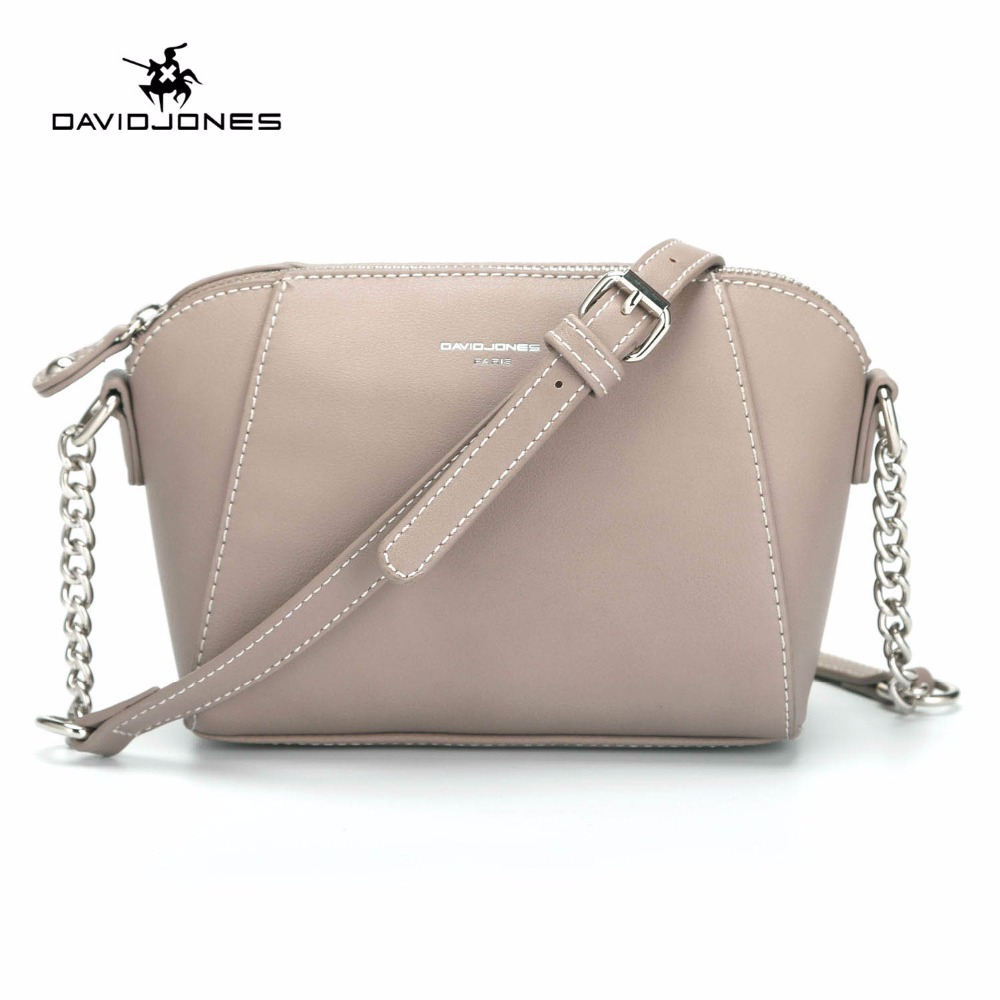 fee2999962 DAVIDJONES women messenger bags pu leather female crossbody bags small lady  chain shoulder bag girl brand