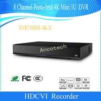 Сетевой видеорегистратор Dahua оригинальный английская версия CCTV 8Ch XVR H.265 + H.264 безопасности пятиядерный ГП брод 4 K мини 1U DVR DH XVR7108HE 4K X