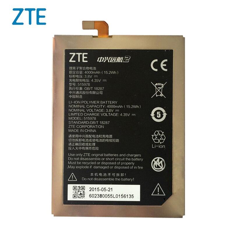 Original ZTE 515978 phone battery For ZTE Blade D2 E169 A452 E169-515978 X3 Q519T 515978 4000mAh