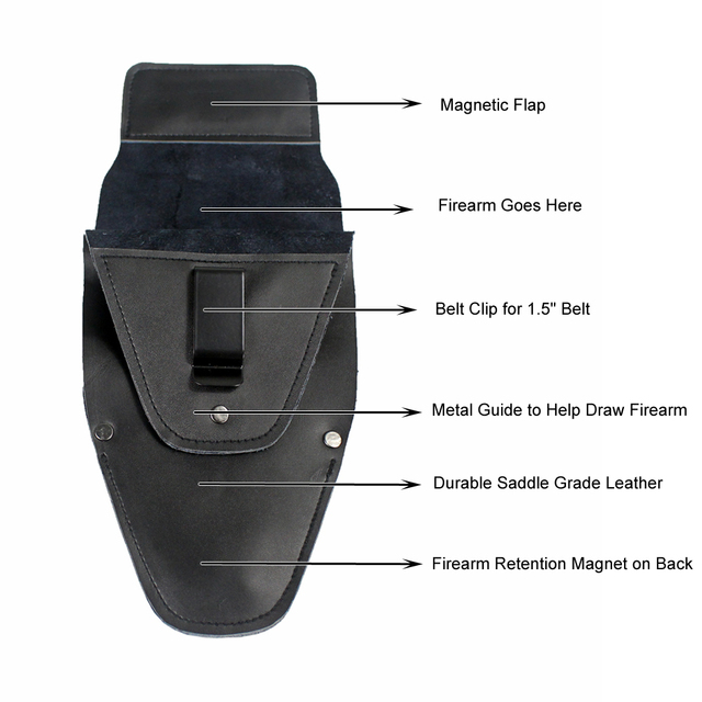 Full Concealed Carry Holster Rapid Draw Leather Inside The Waistband Holster for Compact to Medium Handguns 4