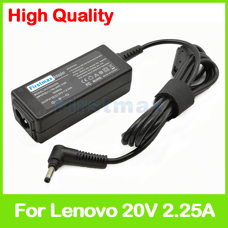 <font><b>20V</b></font> <font><b>2.25A</b></font> <font><b>laptop</b></font> ac <font><b>power</b></font> adapter charger for <font><b>Lenovo</b></font> IdeaPad 110S-11IBR 310-15ABR 310-15IKB 310-15ISK 5A10H43632 PA-1450-55LR image