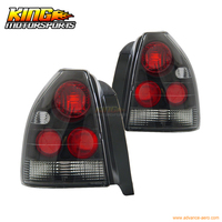 For 1996 2000 Honda Civic 3Dr Hatchback Tail Lights Black 97 98 USA Domestic Free Shipping