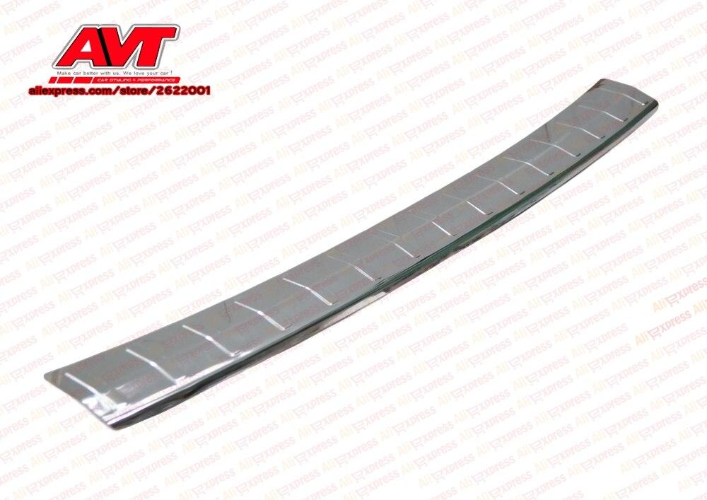 Pad pour Mitsubishi Outlander 2015-sur pare-chocs arrière avec lettre décoration protection chrome accessoires voiture style tuning plaque