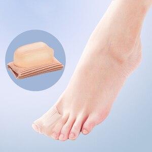 Image 5 - Vopregezi 2pcs Hallux Valgus Corrector for Toes Silicone Bandage Valgus Correction of the Thumb Big Toe Separator Foot Care Tool