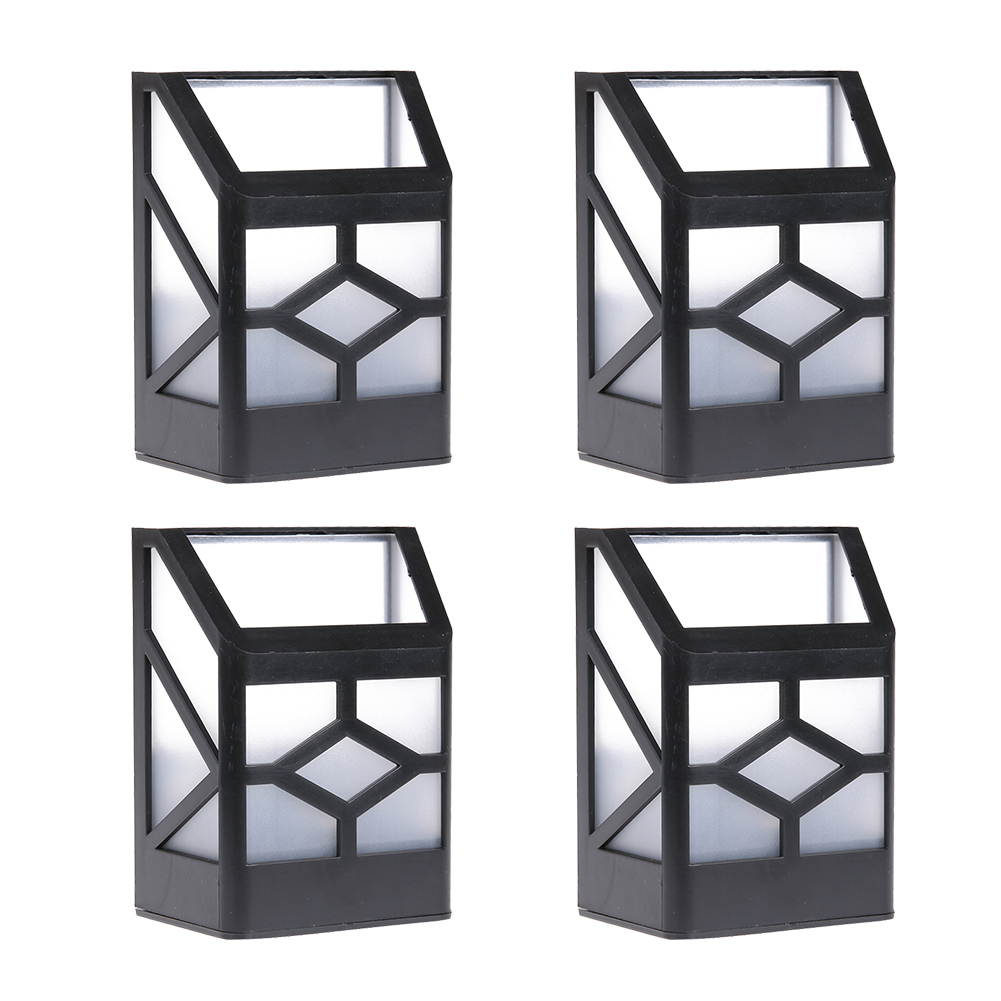 Popular modern garden fence buy cheap modern garden fence lots 4 pcs solar powerwall mount 2 led light outdoor garden fence lamps solar garden lawn lights baanklon Choice Image