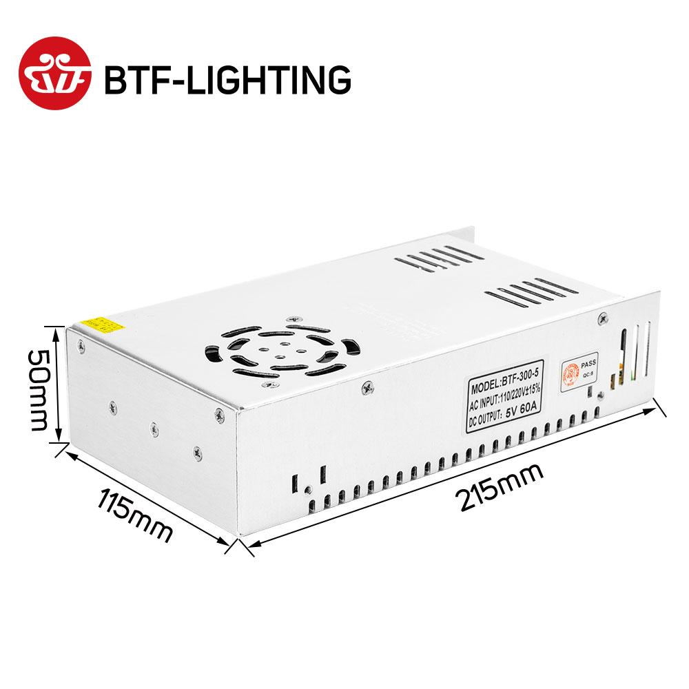 DC5V 2A 3A 4A 5A 8A 10A 12A 20A 30A 40A 60A Interruptor LED Power Supply Adaptador Transformadores WS2812B WS2801 SK6812 SK9822 Tira CONDUZIDA