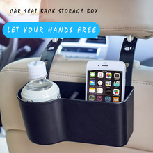 hot deal buy e-four car seat back storage box abs simple vision two colors hold phones books drink cup rubbish keep car clean stowing tidying