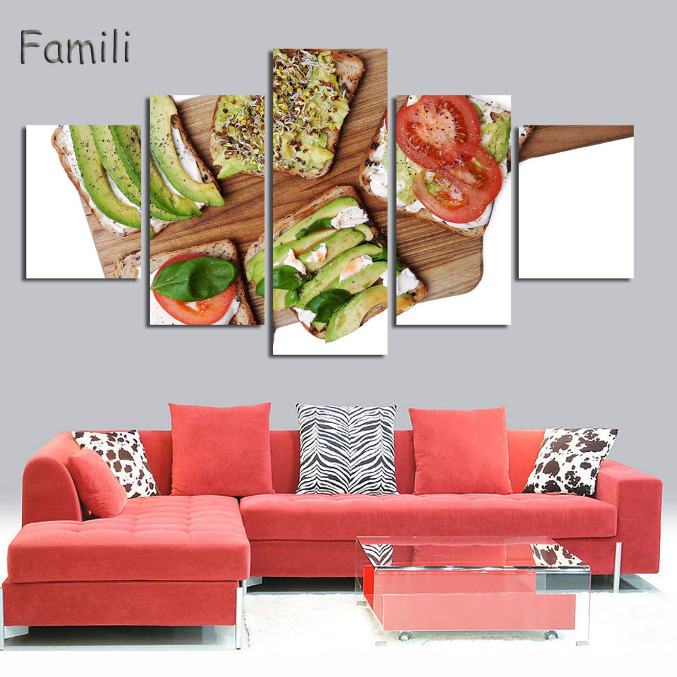 4 picture unframed canvas picture home decor kitchen wall for 4 home decor