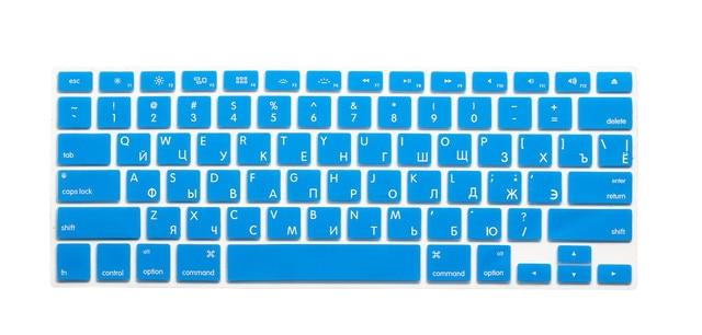 """Cubierta de teclado ruso US silicona Clavier pegatina piel para Mabook 13 """"15"""" 17 """"A1369 A1466 A1502 A1286 a1502 A1425 A1398 A1314"""