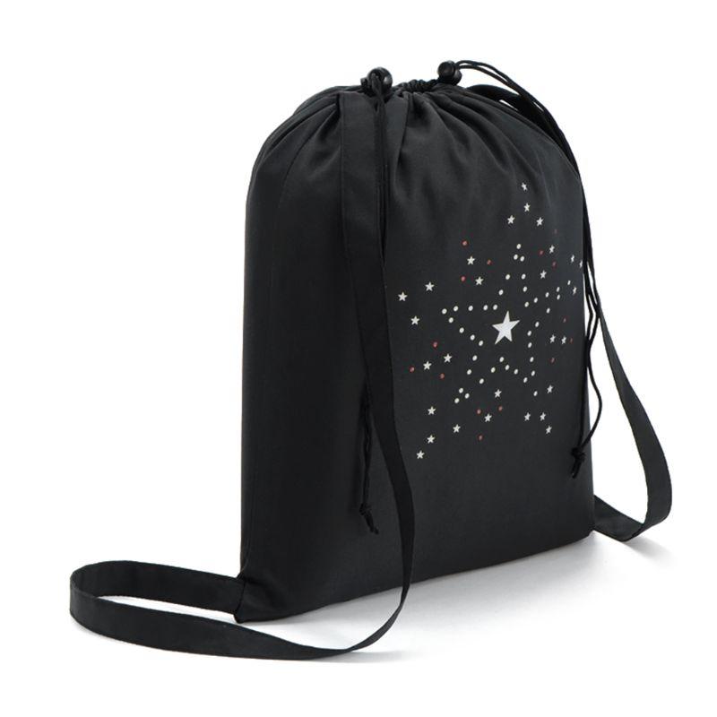 WoMan Girls Drawstring Bag Schoolbag Storage Backpack