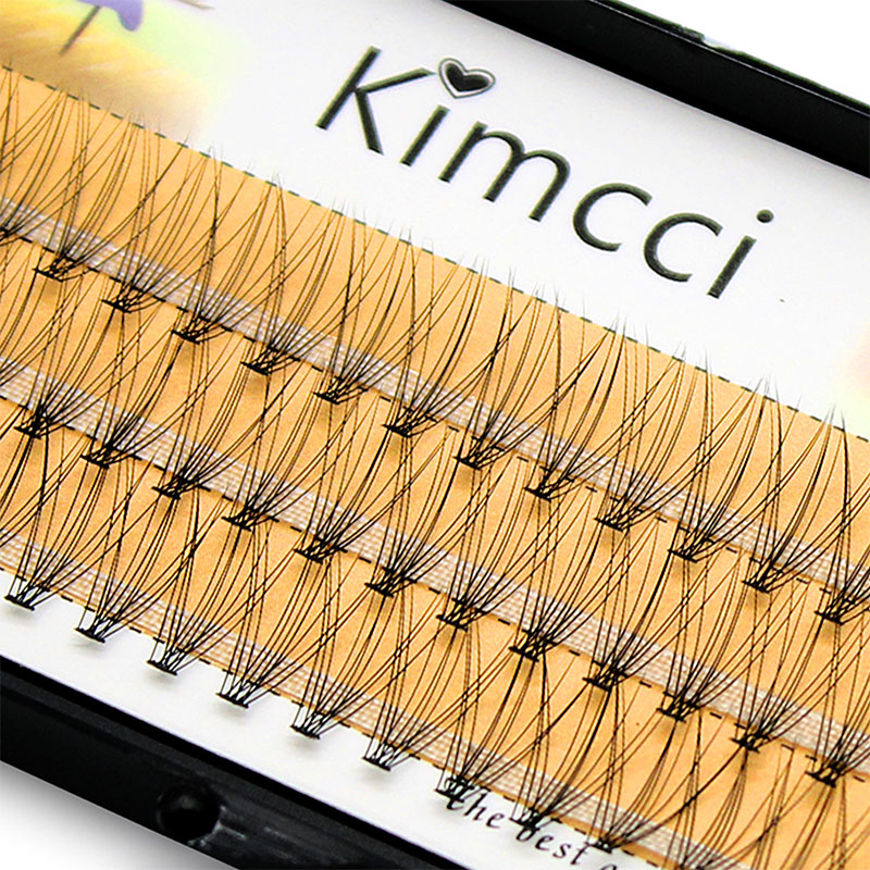 Kimcci 60knots / Case Natural False Eyelash Extension Makeup 10D Mink Individual Faux Eye Lashes Professionel Falsk Grafting Cilias