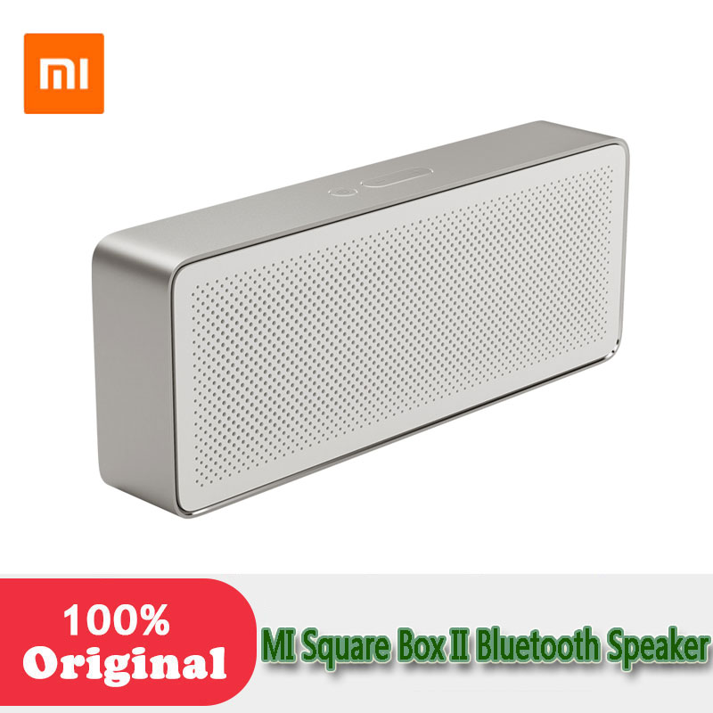 Xiaomi Square Box 2 mini Wireless Bluetooth 4.0 portable Speaker Hands-free Calls Music Player with Mic bookshelf for phone PC original xiaomi mi bluetooth speaker stereo portable wireless mini mp3 player music speakers hands free calls