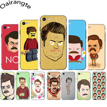 Ron Swanson Soft Phone Cover Case for iphone 5 5S 6 6S Plus 7 8 Plus X XR XS 11 Pro Max(China)