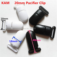2 Color 200pcs KAM 4 5 2 0CM Plastic Baby Dummy Pacifier Soother Clips Suspender