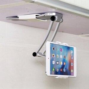 Подставка для планшета 2 в 1 кухонная настенная Столешница Настольный держатель для рецепта Подставка для планшета 7-10 дюймов подходит для ...